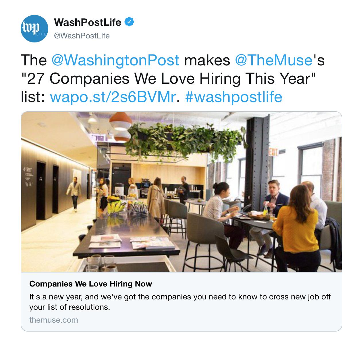 The Washington Post Tweet